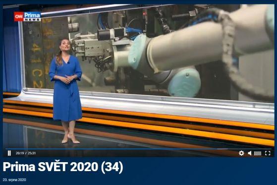 Prima SVĚT 2020 - reportáž o robotech MiR a UR