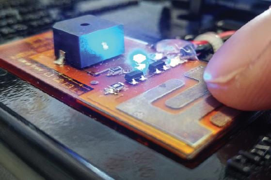 Dotykový snímač  vytištěný na 3D tiskárně DragonFly